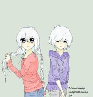 Albino Twins by LadyDeathCandy