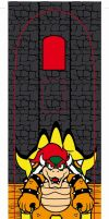 bowser skateboard decal by Shayeragal