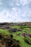 ruin in irish rocky landscape by morrbyte