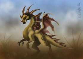 Brown Dragon digital version by aiduqui