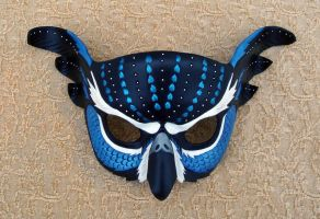 Blue Fantasy Owl Mask by merimask