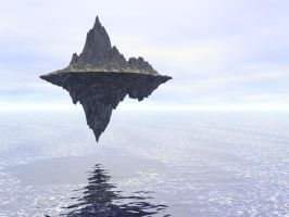 FREE Surreal Floating Mountain by madetobeunique