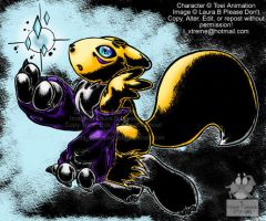 Renamon Coloured with Ink by outcastsproductions