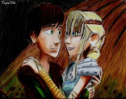 Hiccup and Astrid by Taipu556