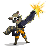 Rocket Raccoon by Drey15