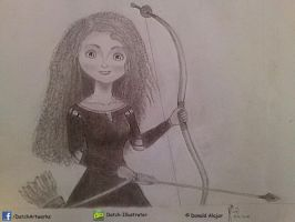 FanArtwork: Merida, from Brave by Datch-Illustrator