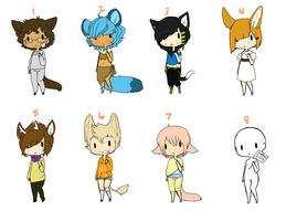 Kemonomimi Adopts -CLOSED- by DeerestHammy