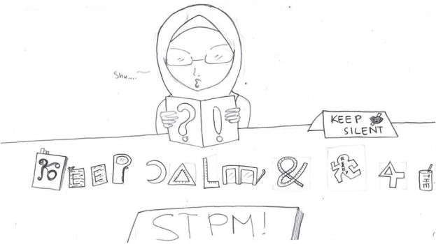 Keep calm and Ready for STPM! XD by Qiaros
