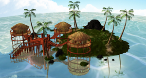 [MMD] Tropical Paradise Stage (DOWLOAD) by NyaLinaa