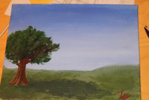 field (my first acrylic painting) by pictobrony