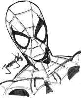 Spidey store signing sketch by thejeremydale