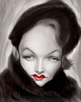 Marlene Dietrich by lepeART