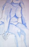 Nude Female Blue by insa-nity
