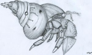 Biomech Hermit Crab by D-r-a-y-a-s-h-a