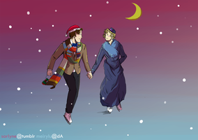 Fandom Christmas Cards: Doctor Who by SarlyneART