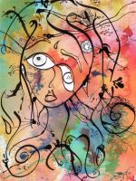 Abstract Girl by marjol3in