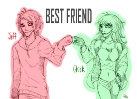 Jeff with Clockwork-BEST FRIEND by DeluCat