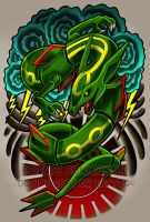 Rayquaza Tattoo Commission by RetkiKosmos