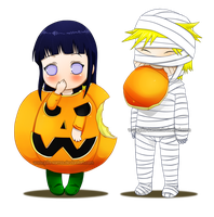 NaruHina CuteHalloween by Pia-sama