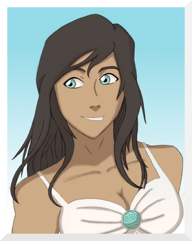 LOK: Korra- Let Your Hair Down (Colored) by ButterflyMelodyFox