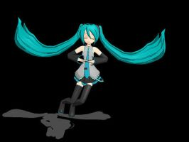 Miku is floating O-O by YugiohFanatic789