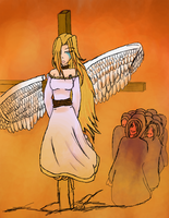 Angel at the Stake by 6Eve6bloodreign6