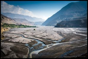 Crossing the Kali Gandaki Nadi by Dominion-Photography