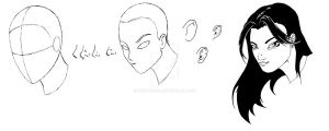Face Tutorial 3 Quarters View by Vegeta1978