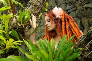 Angel - dreads amongst ferns 1 by wildplaces
