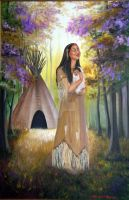 Native American Mother Child by Artistic-Gypsy