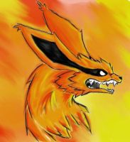 My first Kyuubi- Coloured by DarkDragon1010