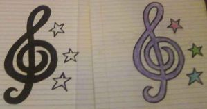 Treble Clefs by chrisMISFIT