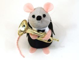 Blair the Trumpeter Mouse by The-House-of-Mouse