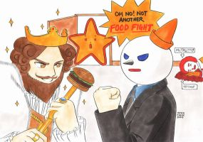 Epic Food Fight by ayabrea