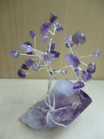 Amethyst gem tree by Ilyere