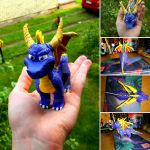 Spyro sculpture by RetroCharo