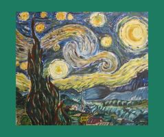 starry night by van gogh by harold-of-the-rocks