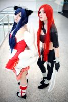 Ahri and Katarina - League of Legends by ibukii