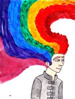 Jan 27 - He with the Rainbow-Coloured Hair by Manda-of-the-6