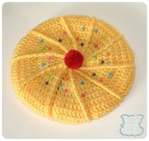Yellow Cupcake Beret 1 by moofestgirl