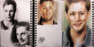 Jensen Ackles Sketchdump by LilyThula