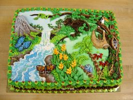 Rainforest cake by The-EvIl-Plankton