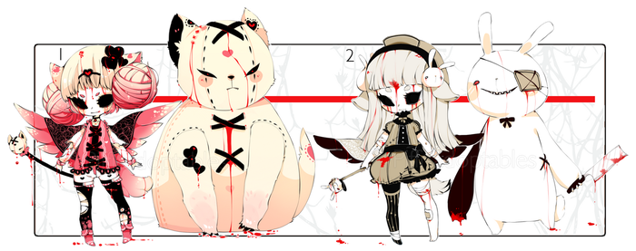 [CLOSED] ADOPT AUCTION 176 - Evil Plushies Charmer by Piffi-sisters