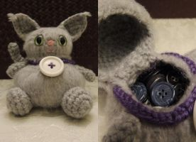 Binky the Button Kitty Monster by Jjaystar94