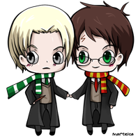chibi drarry by Martelca
