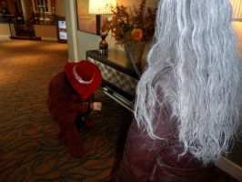 Alucard obeys his master during AnimeNEXT 2013 by FUBARProductions
