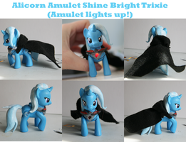Alicorn Amultet Shine Bright Trixie by alltheApples
