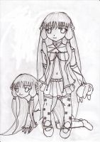 the chobits sisters by fantasywar2