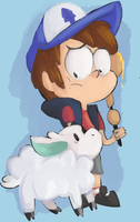 dipper with a lamb by Spanish-Scoot