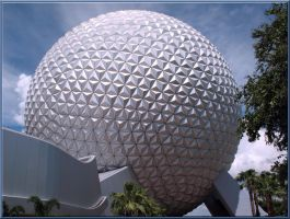 Epcot Spaceship EarthWallpaper by WDWParksGal